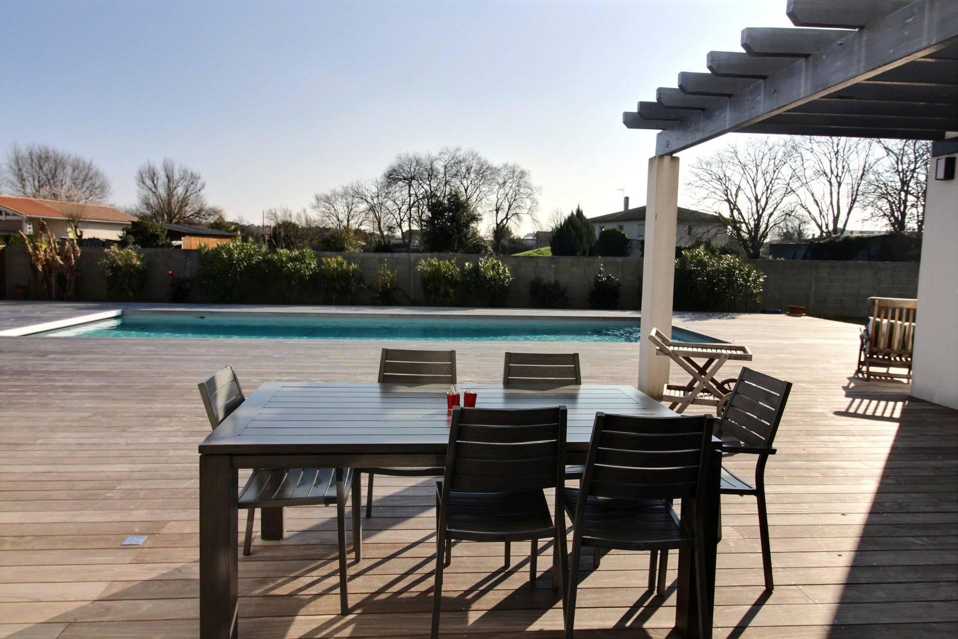 Recherche villa contemporaine 4 chambres avec piscine GUJAN-MESTRAS