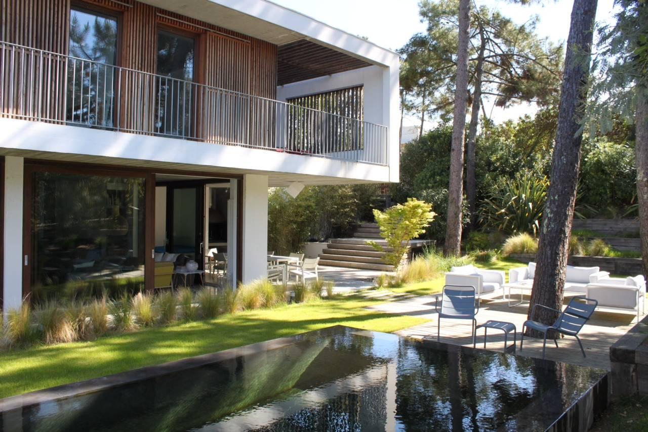 A louer villa architecte 5 chambres 10 personnes piscine Cap Ferret