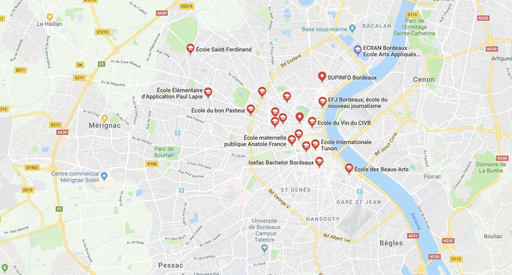 Les meilleures écoles de Bordeaux