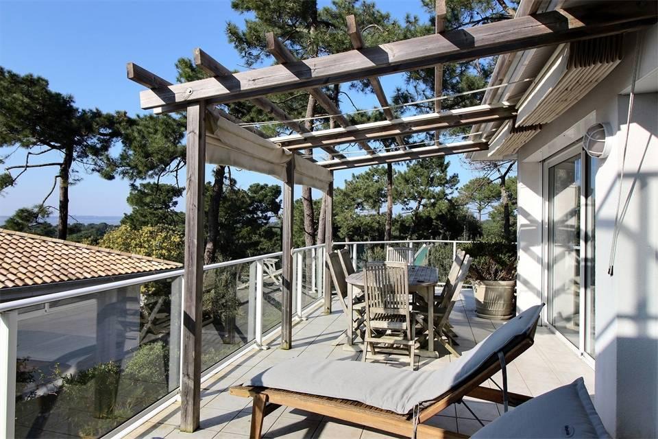 Location villa 4 chambres - 10 personnes - vue bassin PYLA SUR MER CERCLE DE VOILE