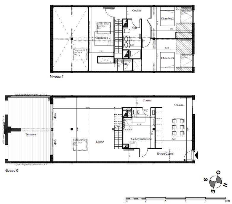 Parc Rivière - T4/5 traversant de 140 m2 avec une très belle terrasse exposée Sud de 27 m2 et 2 parkings
