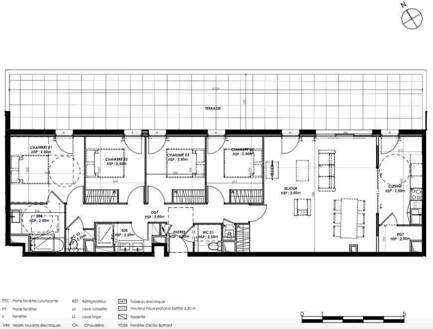 Pierre 1 er Heritage - Le Bouscat/Bordeaux - T5 avec remarquable terrasse au dernier étage