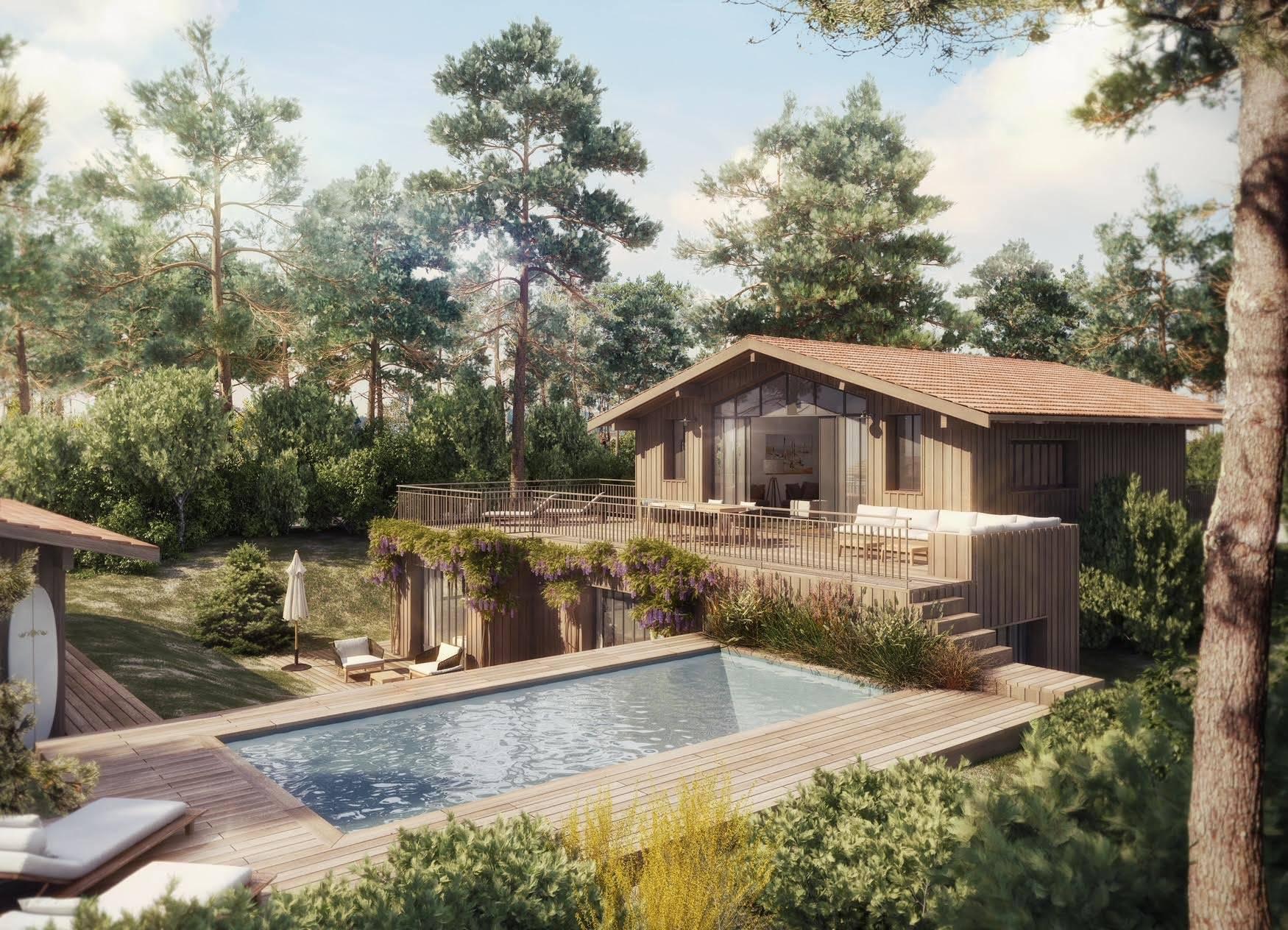 Projet de villa bois neuve CAP FERRET à vendre