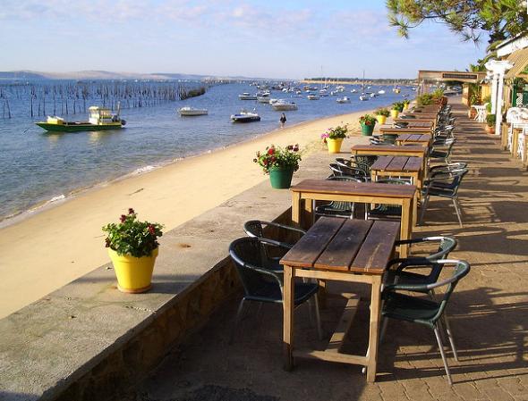 restaurant au bord de l'eau Bassin Arcachon