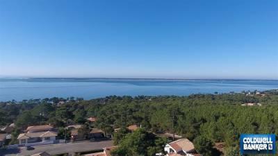 Terrain a vendre à Pyla sur mer avec vue bassin : photo grande hauteur