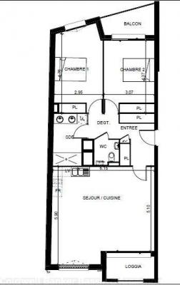 Vente Appartement T3 ARCACHON CENTRE Appartement neuf T3 avec loggia et balcon dans une résidence de standing
