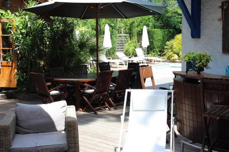 Jardin transat calme vacances salon de jardin location Cap ferret