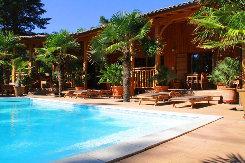 Location villa 5 chambres - 11 personnes - avec belles prestations et piscine sécurisée CAP-FERRET