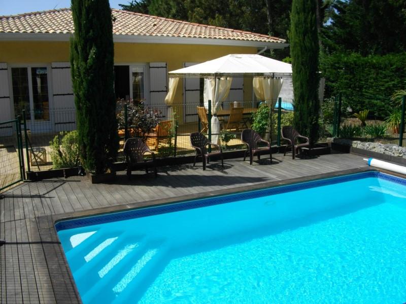 location villa familiale avec piscine cap ferret