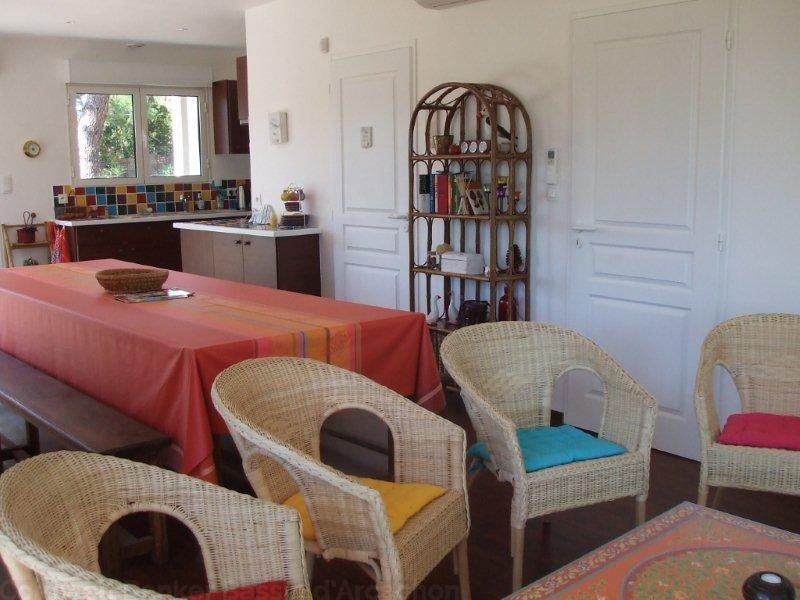 location saisonnière villa 8 couchages proche cap-ferret