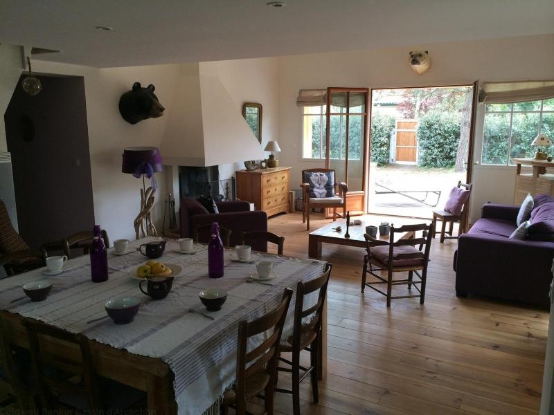 Agence immobilière www.immoba.fr loue cet été villa 9 personnes sur presqu'ile du Cap-Ferret