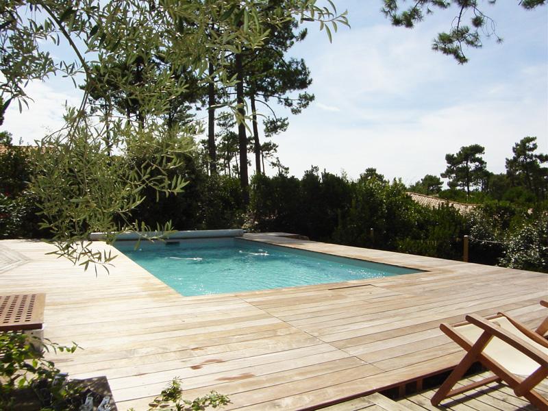 Belle villa à louer sur presqu'île du cap-ferret pour 6 personnes avec piscine chauffée