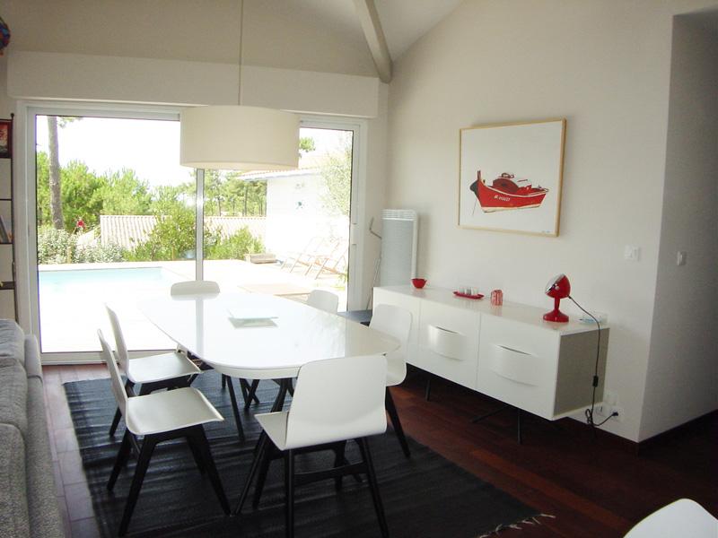 Belle villa à louer cet été sur le Bassin d'Arcachon avec piscine chauffée