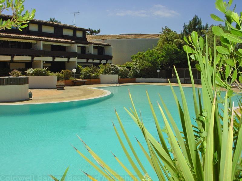 location appartement plain pied cap ferret avec grande terrasse donnant sur piscine de la. Black Bedroom Furniture Sets. Home Design Ideas