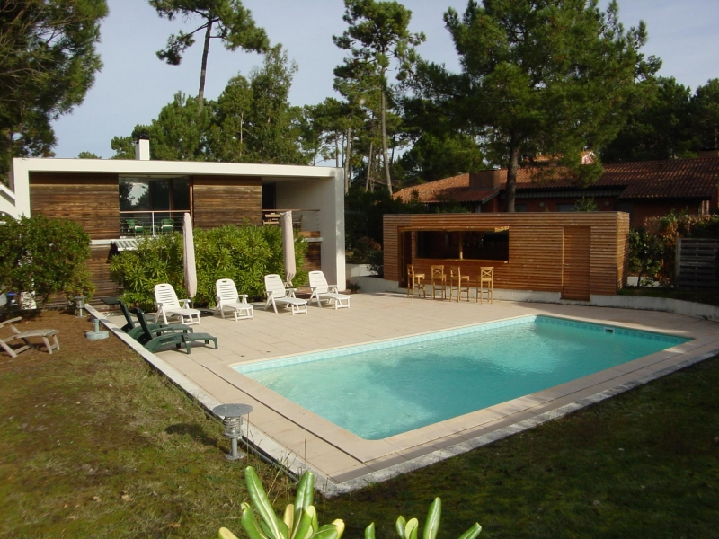 Location villa d 39 architecte le canon pour 6 personnes avec for Recherche villa avec piscine
