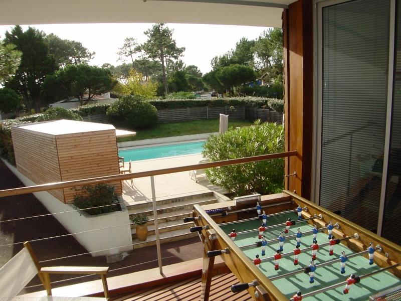 Sur Bassin d'Arcachon, villa à louer avec piscine chauffée