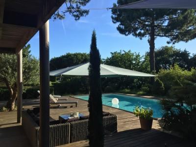 louer maison 6 chambres piscine chauffée pyla