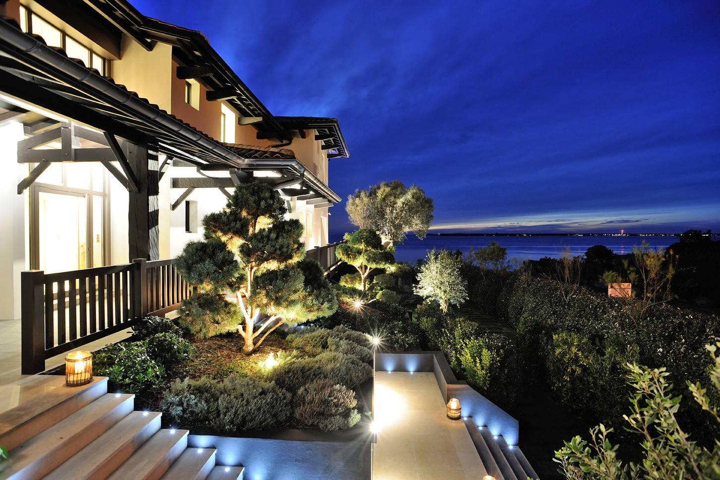 location vacances luxe moderne piscine vue mer Pyla