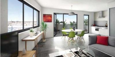 Appartement duplex de 96m² - 4 chambres avec terrasse et vue sur les bassins à flots