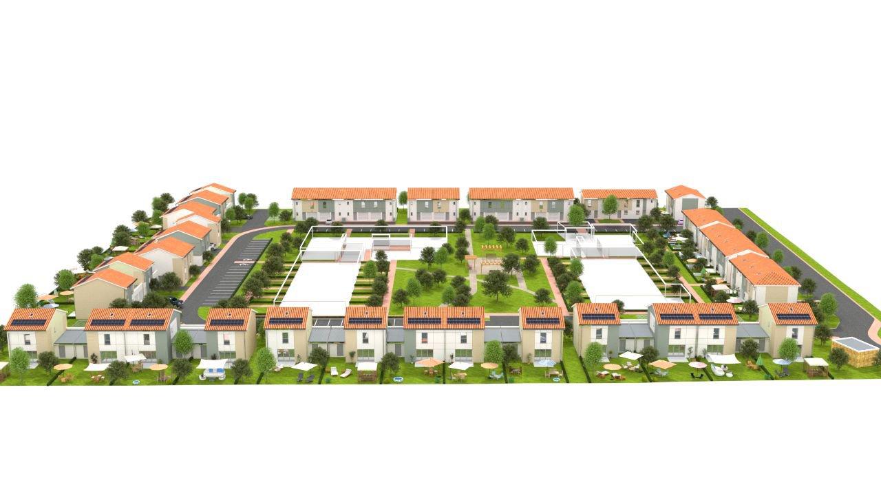Maison de ville avec jardin à vendre LE HAILLAN