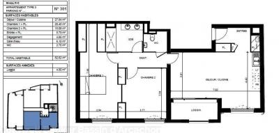 Vente appartement neuf T3 à vendre au centre d'arcachon proche plage et commerces