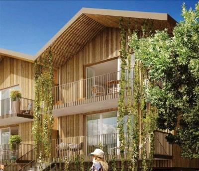 A vendre appartement T3 au dernier étage avec une loggia et 2 parkings proche de bordeaux à bruges