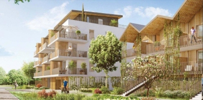 Appartement T3 à vendre près de Bordeaux à Bruges avec parking et loggia