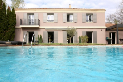 cherche grande maison moderne avec piscine en vente Pessac