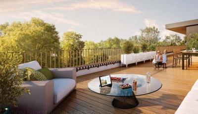 Beau T4 neuf de 83 m2 avec terrasse de 51 m2 proche bordeaux à Bruges