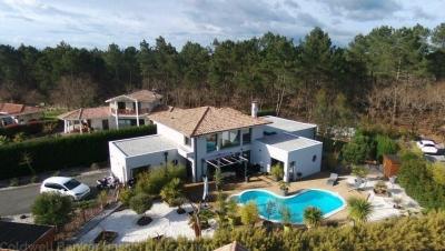 villa d architecte avec piscine a vendre au cap ferret