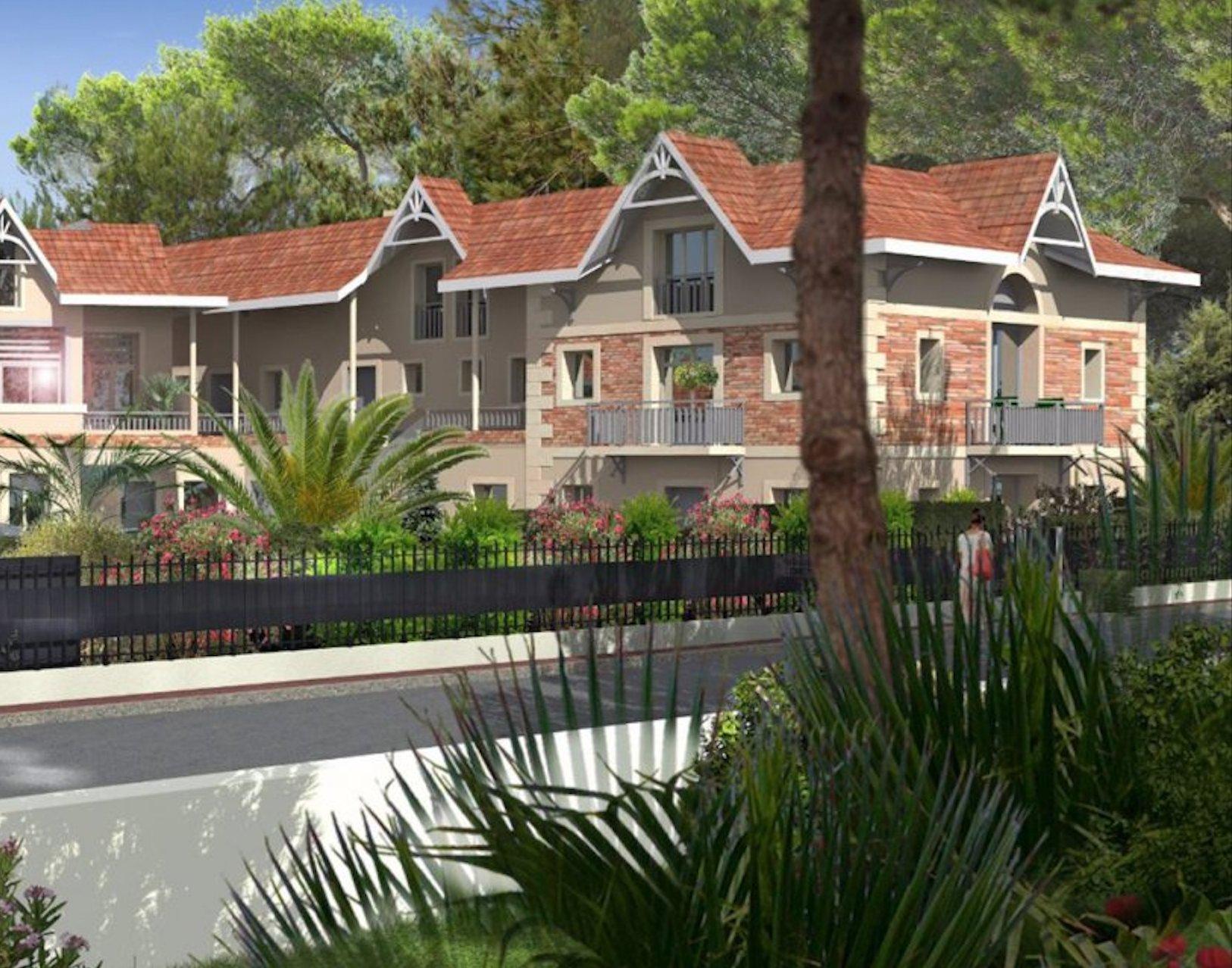 Appartement en duplex neuf 100 m2 avec mezzanine a vendre ARCACHON LE MOULLEAU