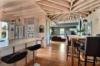 Maison contemporaine à vendre ossature bois sur le bassin d'arcachon à gujan-mestras