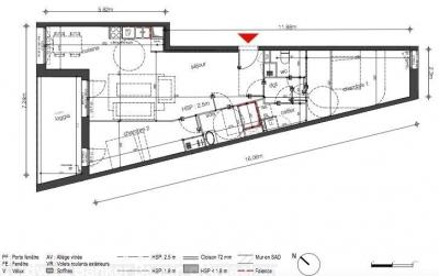 Achat appartement neuf avec loggia et vue sur la garonne bordeaux quartier darwin