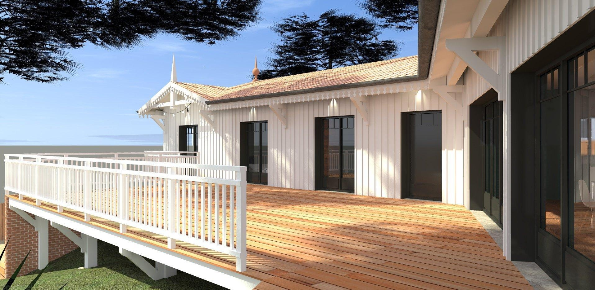 Projet de rénovation villa gaume 6 chambres pyla sur mer