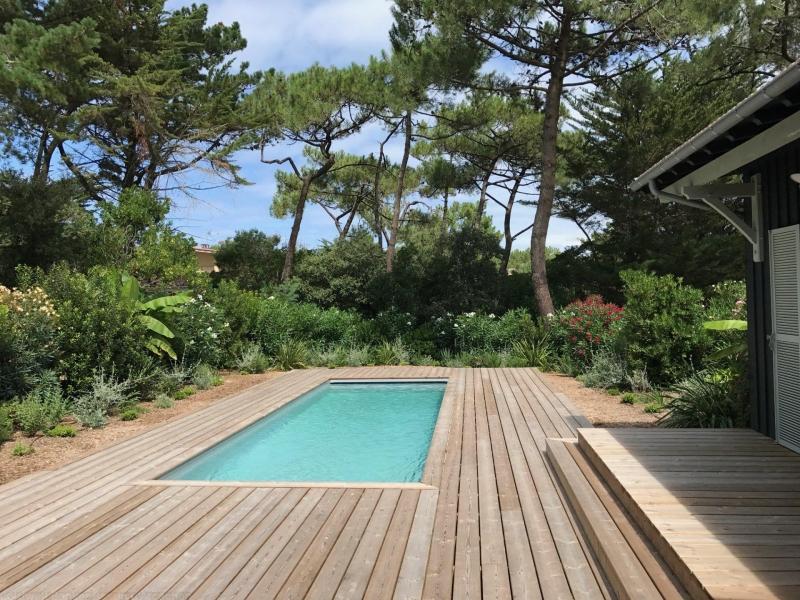 maison en bois esprit cabane avec piscine en vente cap ferret centre