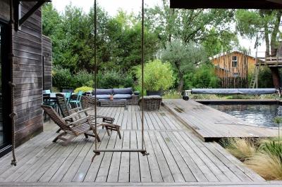 vente maison d'architecte avec piscine et terrain lege cap ferret