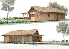 Vente projet construction de cabane en bois cap ferret 44ha
