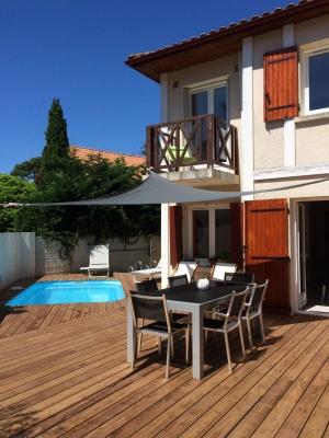 Vente maison idéale pied a terre avec jardin et piscine proche plage arcachon le moulleau