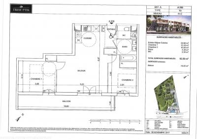 Achat appartement standing T3 2 chambres avec Balcon et parking proche bordeaux métropole talence