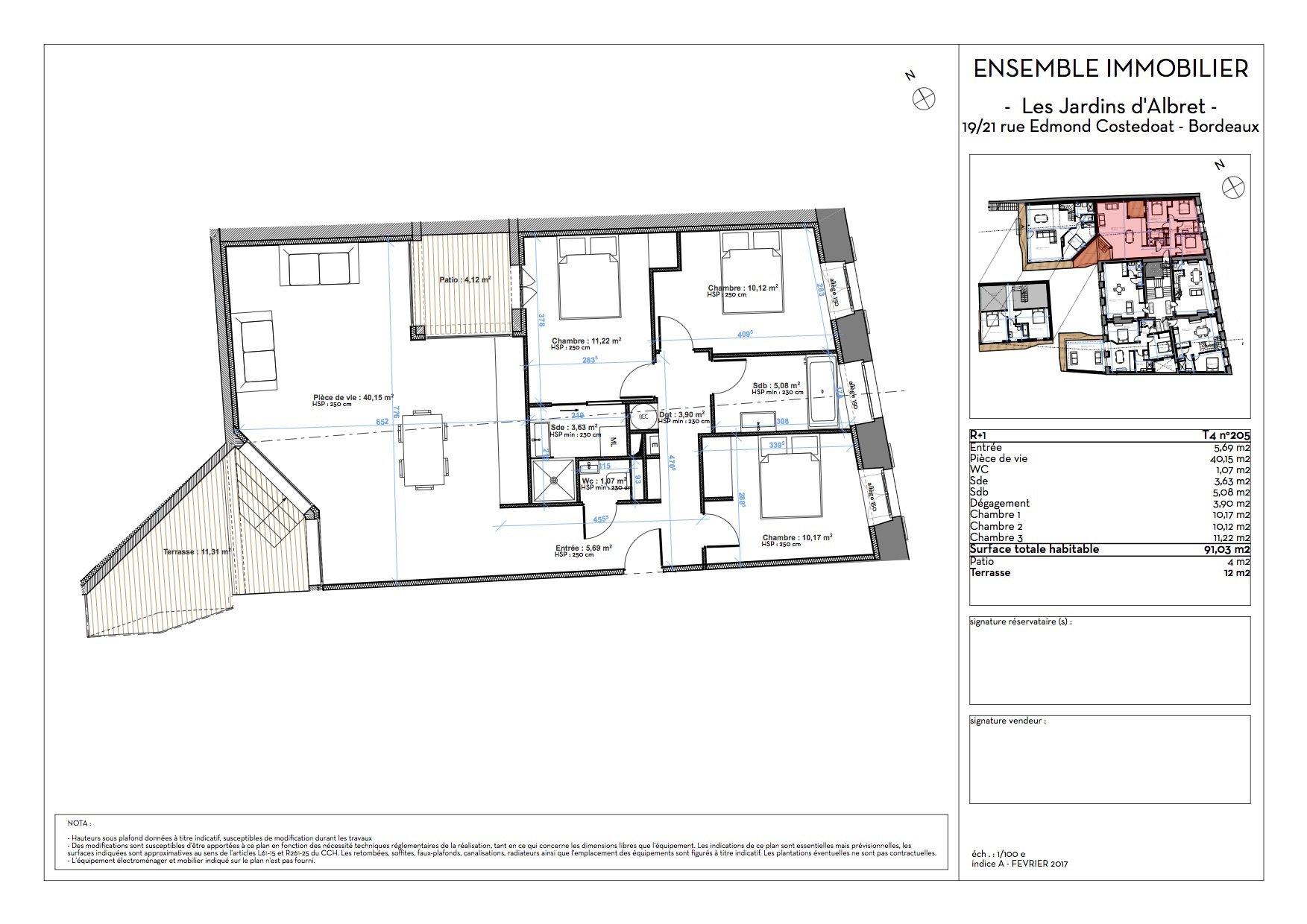 Appartement T4 refait à neuf à vendre BORDEAUX CENTRE