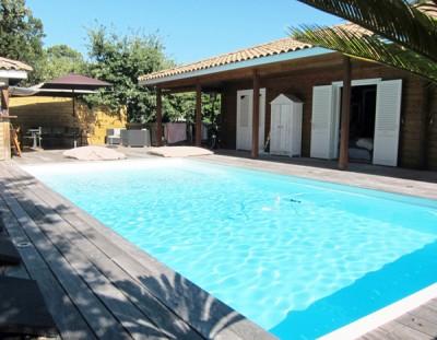 vente maison ossature bois avec piscine Arcachon