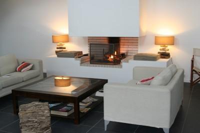villa salon cheminée pyla sur mer