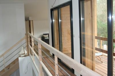 étage avec balcon en bois Pyla sur mer