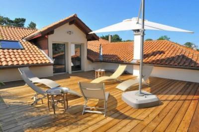 Terrasse étage villa Lège cap ferret