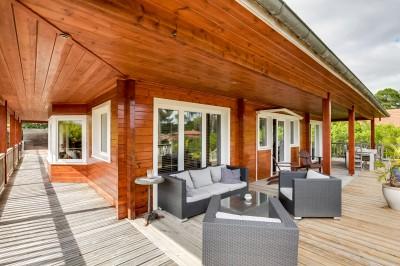achat villa familiale en bois avec piscine pool house sur Pyla sur Mer