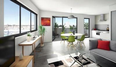 Appartement T5 neuf à vendre BORDEAUX BASSIN A FLOTS