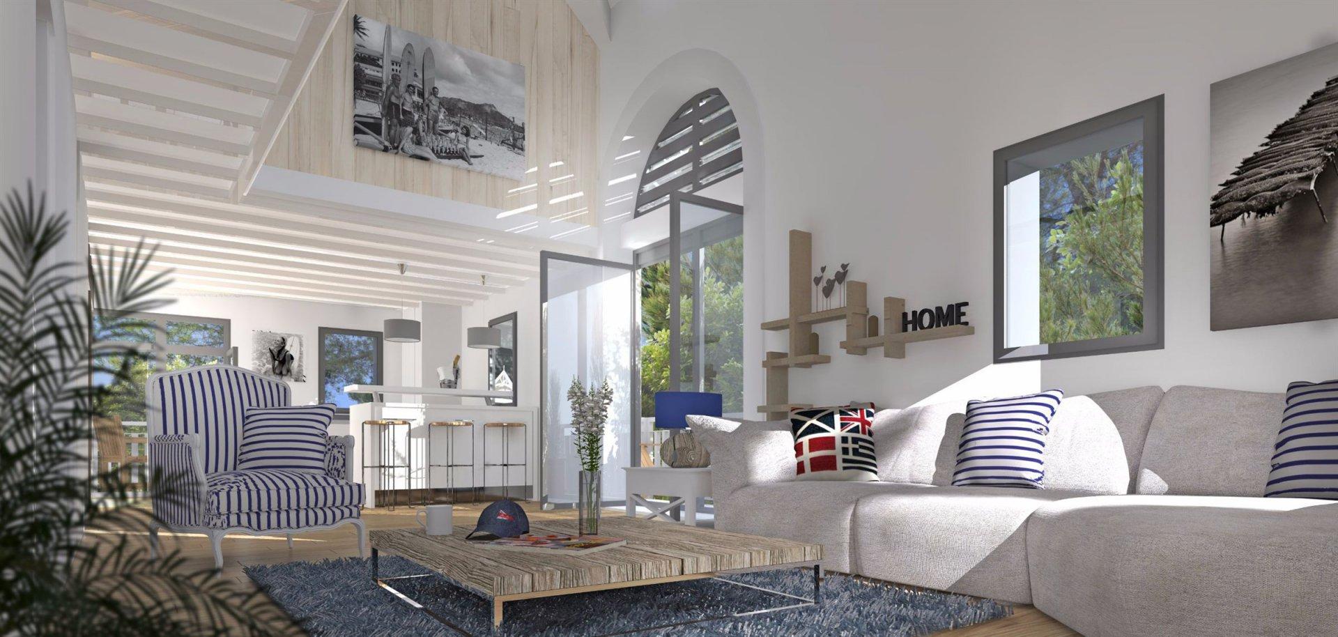 Appartement neuf en bord de mer à vendre ARCACHON LE MOULLEAU