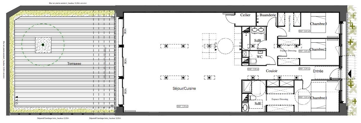 BORDEAUX TIVOLI - Magnifique loft de 185m2 avec terrase de près de 100 m2